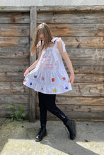 Load image into Gallery viewer, Flowers - White Hand-Painted Dress