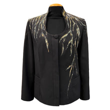 Load image into Gallery viewer, Black Jacket With Hand-Painted Details