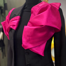 Load image into Gallery viewer, Black Jacket With Fuchsia Taffeta Details