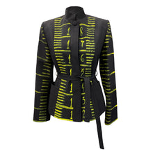 Load image into Gallery viewer, Hand-Painted Black Jacket - Measuring Tape