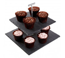 Load image into Gallery viewer, Slate 2-Tier Cake Stand