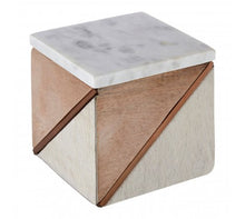 Load image into Gallery viewer, Cowhide Small Trinket Box
