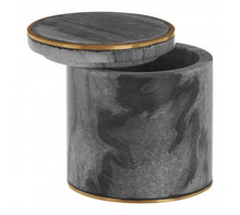 Load image into Gallery viewer, Grey Marble Brass Storage Pot