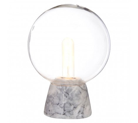 Globe Lamp With Grey Marble Base