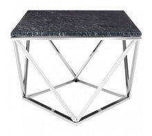 Load image into Gallery viewer, Black Marble Triangular Coffee Table