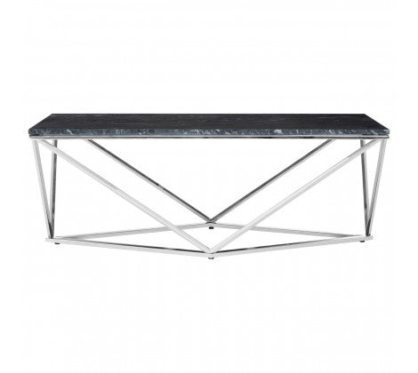 Black Marble Triangular Coffee Table