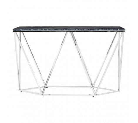Rectangular Black Marble Console Table