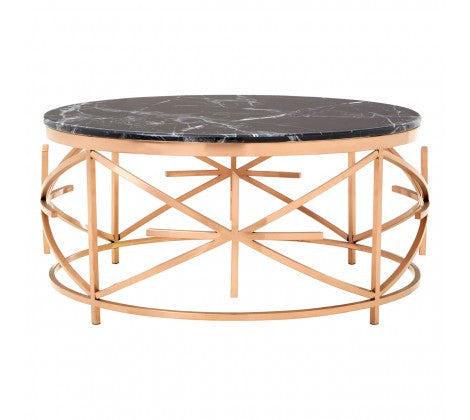 Black Marble / Rose Gold Coffee Table