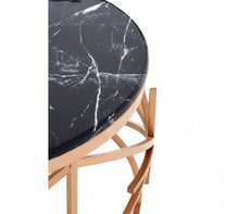 Load image into Gallery viewer, Black Marble / Rose Gold Coffee Table
