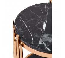 Load image into Gallery viewer, Rose Gold / Marble Side Table