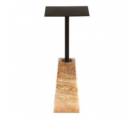 Iron / Onyx Stone Side Table