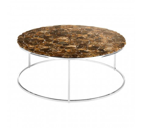 Round Coffee Table / Agate Stone Top
