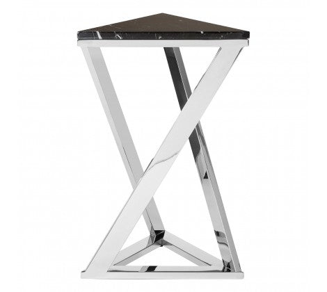 Angled Black Marble End Table