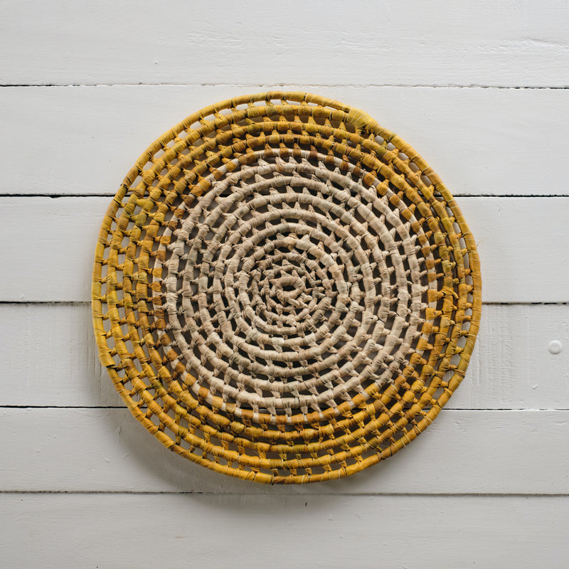 Sasa Voivoi Table Mat Set of Four - Turmeric Rim