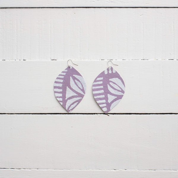 Handcrafted YAWA! Masi Earrings - Leaf