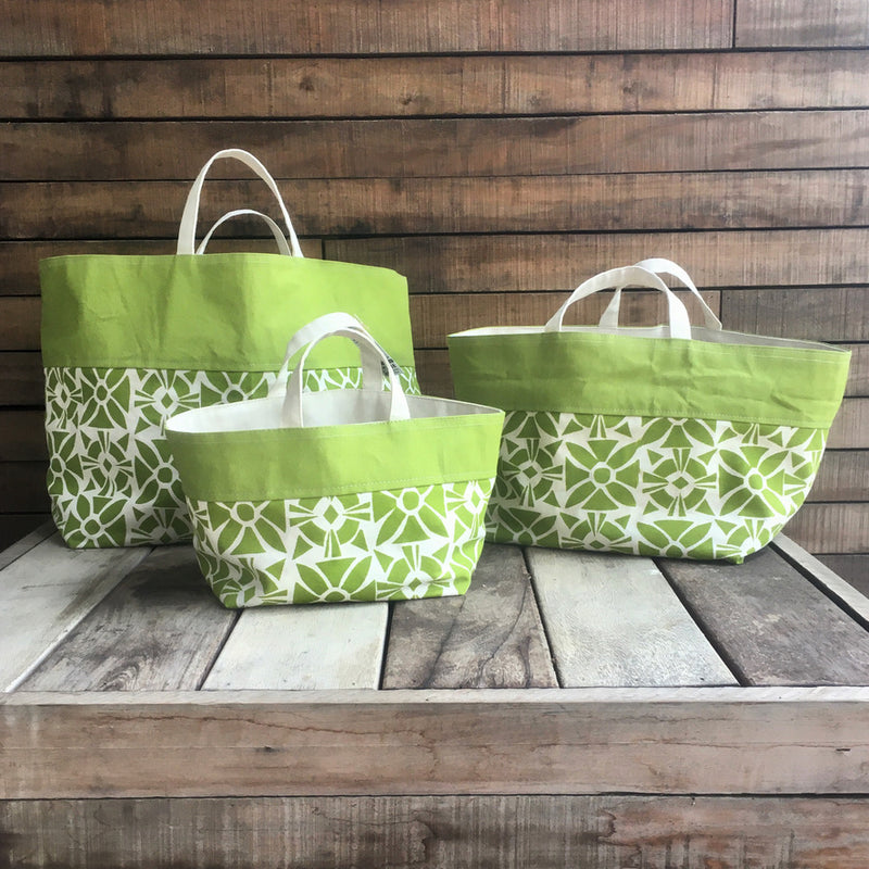 Handprinted Canvas Storage Tote