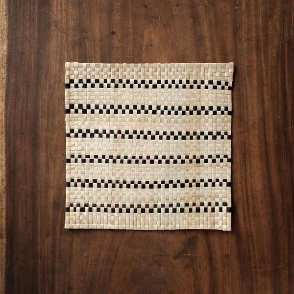 Square Table Mat Set of Four (4) Lineout
