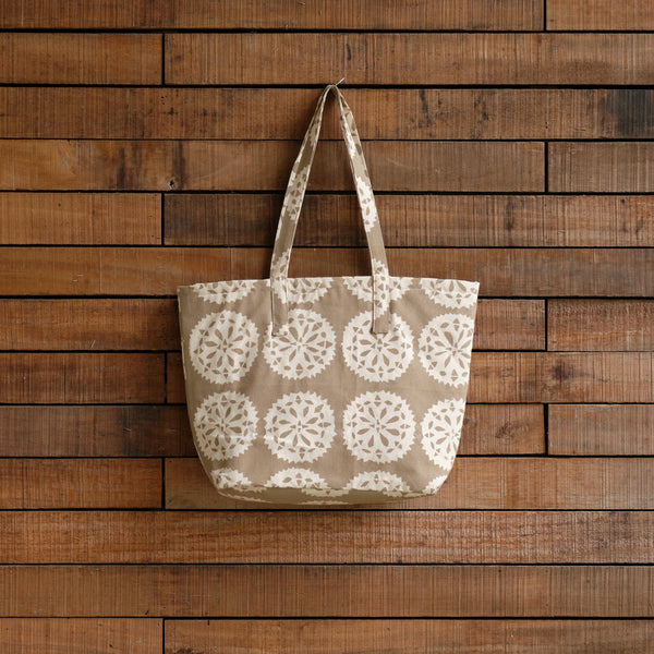 Handprinted & Handwoven Beach Bag