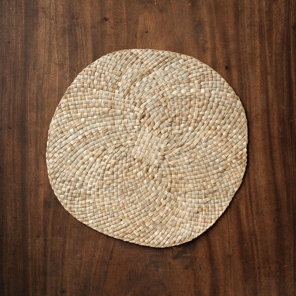 Round Table Mat Set of Four (4) Natural