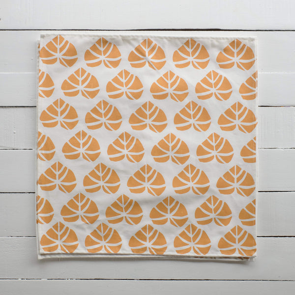 Handprinted Napkin Set of Four - Vau Leka Print