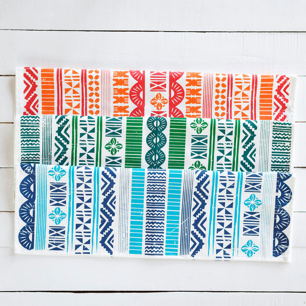 Handprinted Tapa Tea Towels