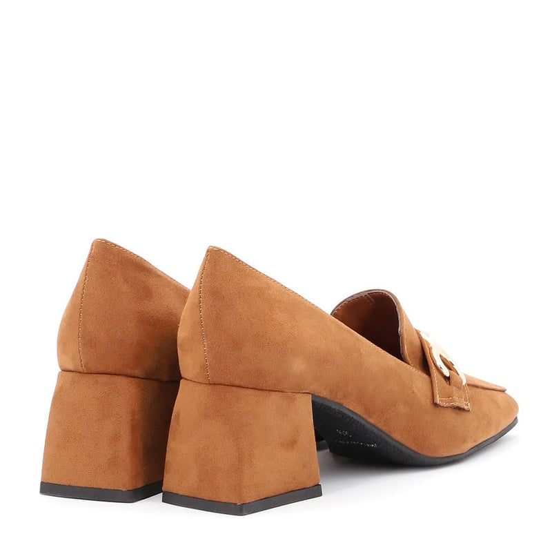 Mocassino in Suede Ecopelle Cuoio - Ripa Shoes
