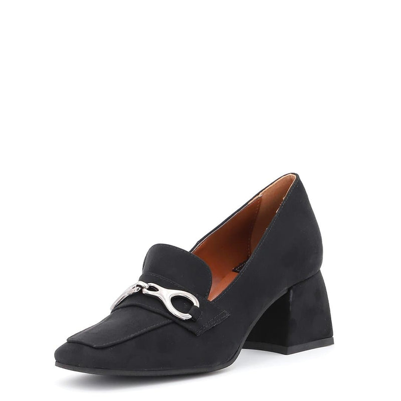 Mocassino in Suede Ecopelle Nero - Ripa Shoes
