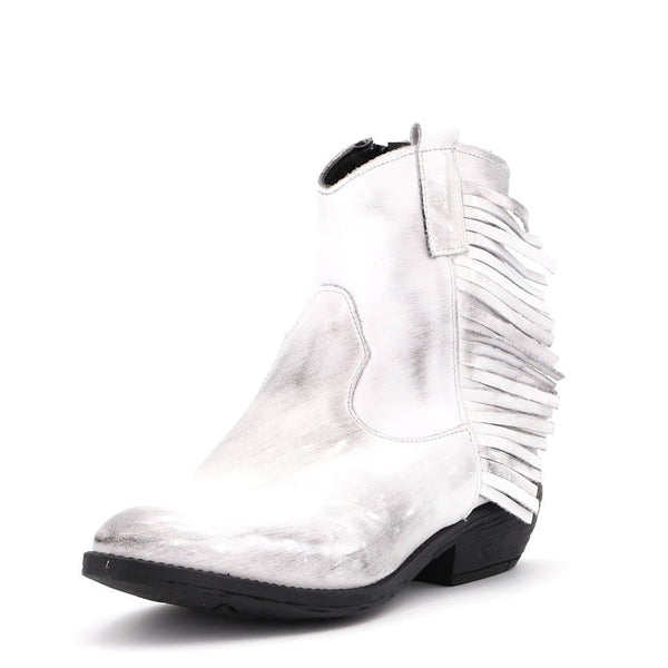 Stivaletto Texano Bianco - Ripa Shoes