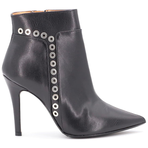 Tronchetto Ecopelle Nero con borchie - Ripa Shoes