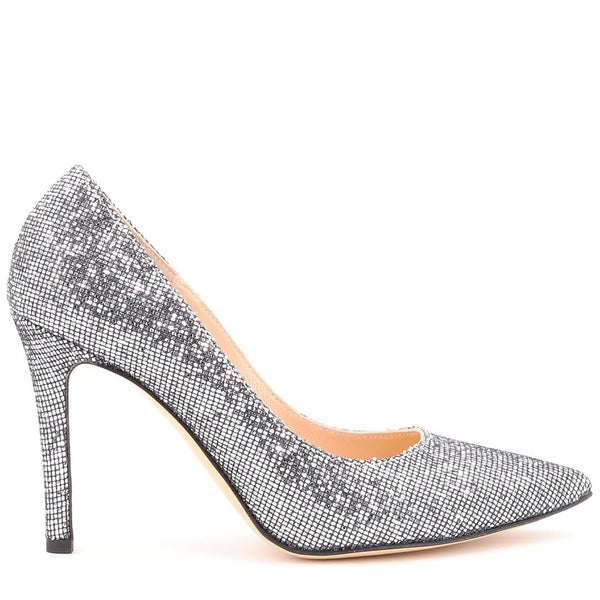 Décolleté Glitter Argento - Ripa Shoes