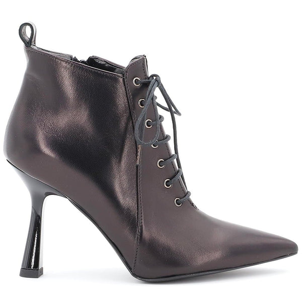 Tronchetto Nero Stringato - Ripa Shoes
