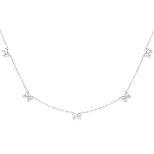 Necklace Litlle Butterflies Silver
