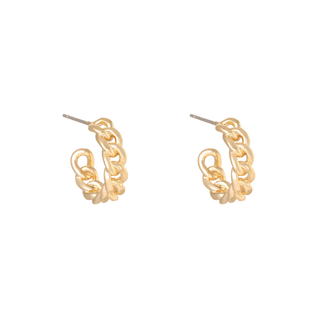 Earring Classy Chain Gold