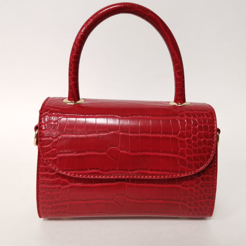 Mini Croc Handbag Red
