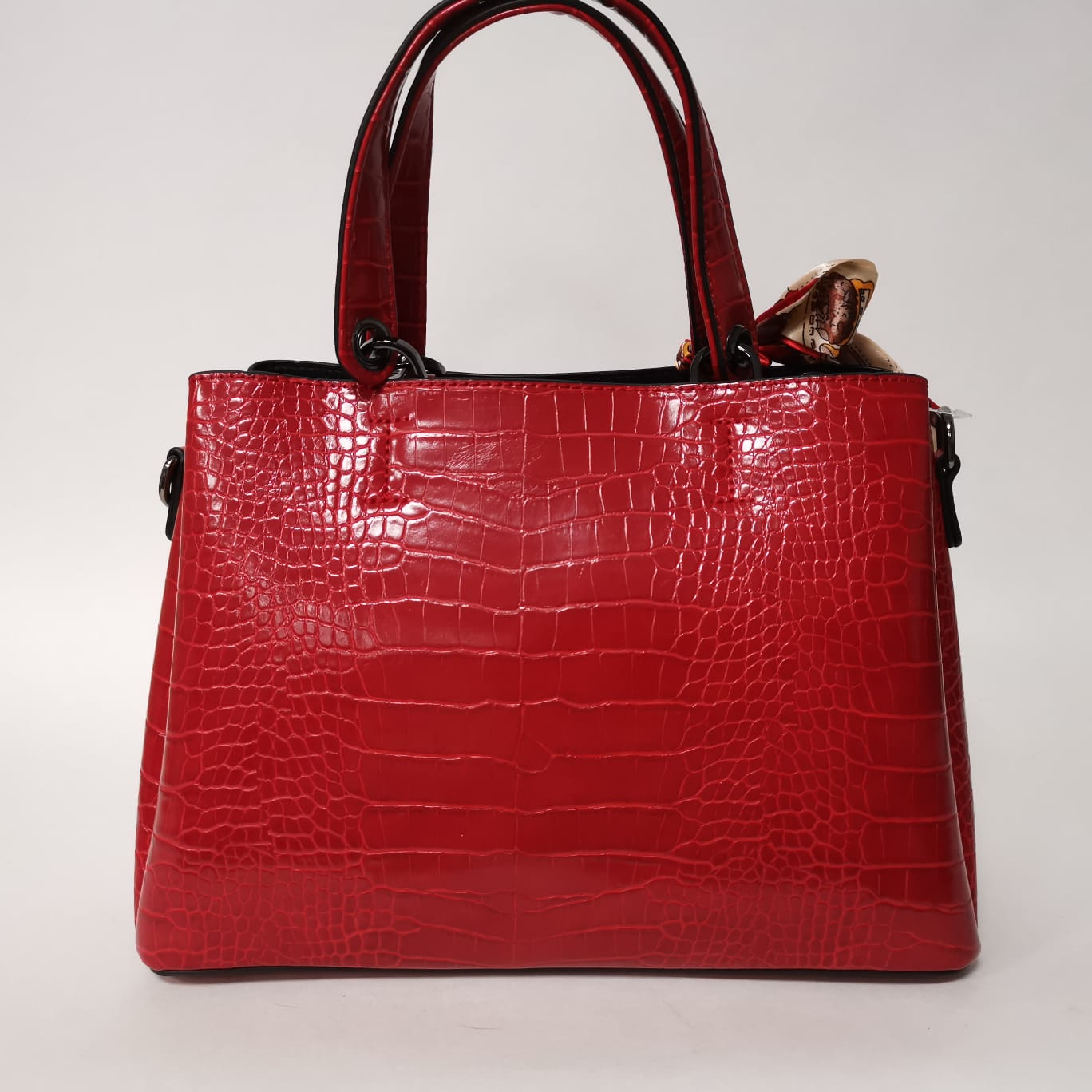 Amy Croc Handbag Red