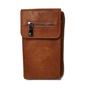 Zipper Wallet Bag Brown