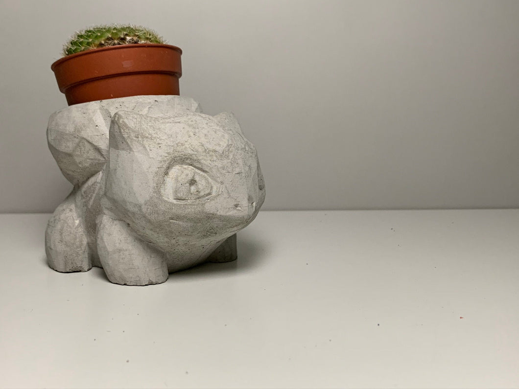 BULBASAUR CONCRETE PLANTER - Bulbasaur Planter - Bulbasaur Flower Pot - Bulbasaur Succulent -  - Bulbasaur Pokemon - betonven