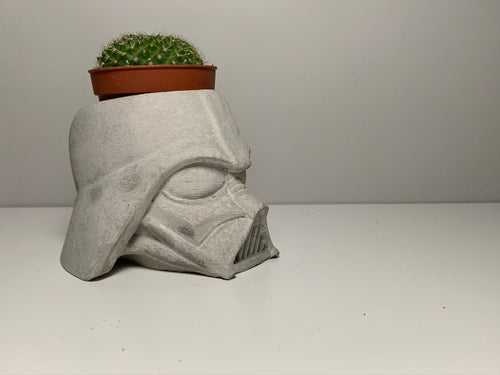 DARTH VADER PLANTER - Concrete Plant Pot - Vader Plant Holder - Star Wars Gift - Indoor Plant Pot - Figurines Planters - Home Decor - betonven