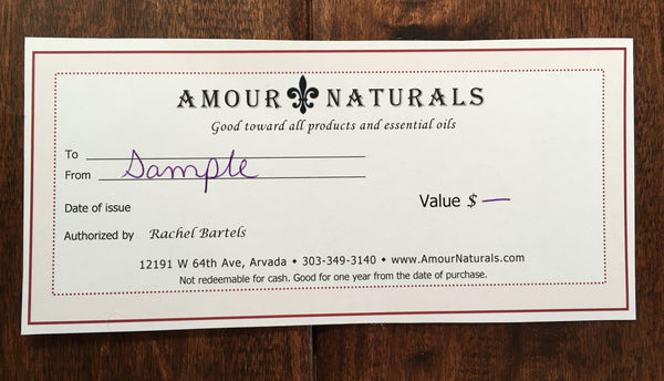 Amour Naturals Gift Card