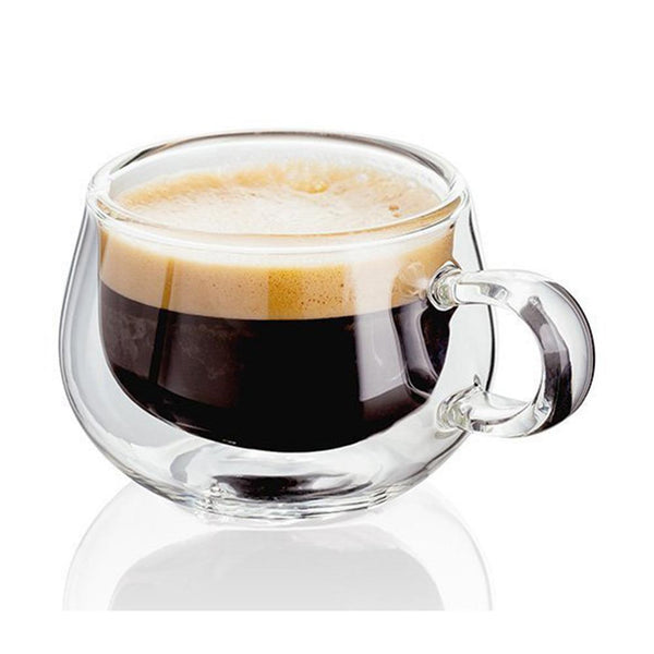 Heat Resistant Double Wall Glass Mug