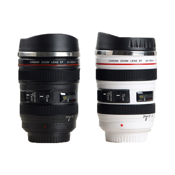 Stainless Steel Camera Lens Coffee Mugs