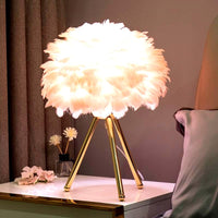 Goose Feather Led Table Lamp