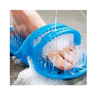 Plastic Bath Shoes with Pumice Stone Foot Scrubber