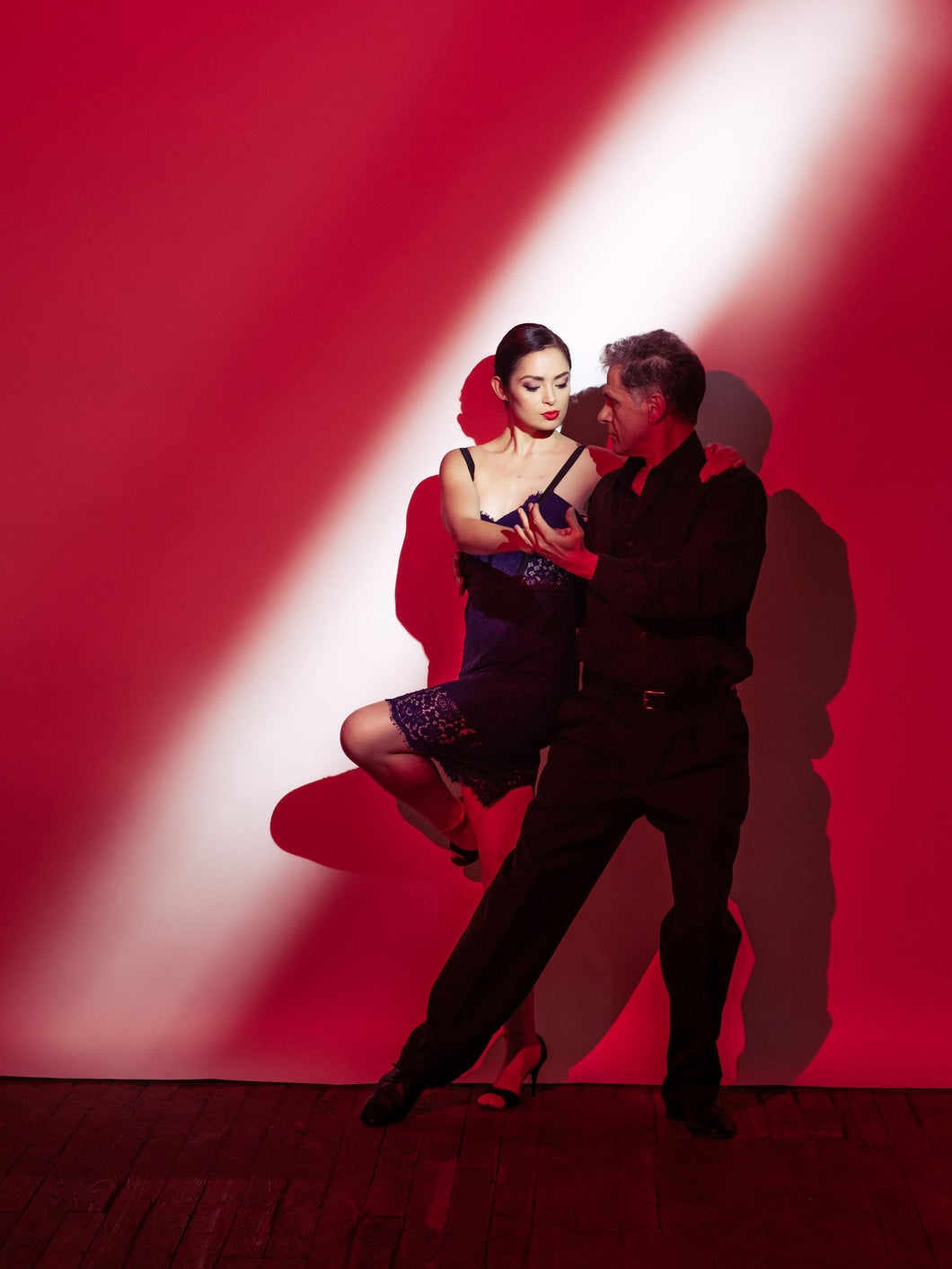 Red Argentine Tango poster - Girl in the Spotlight Sacada