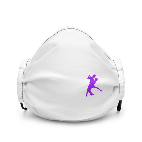 Tango Purple Icon on a White Face Mask