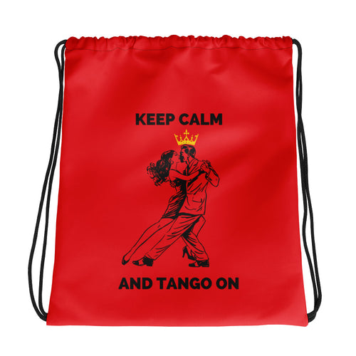 Keep Calm and Tango On DrawString High Heel bag