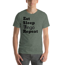 Load image into Gallery viewer, Eat, Sleep, Tango Repeat Green T-Shirt
