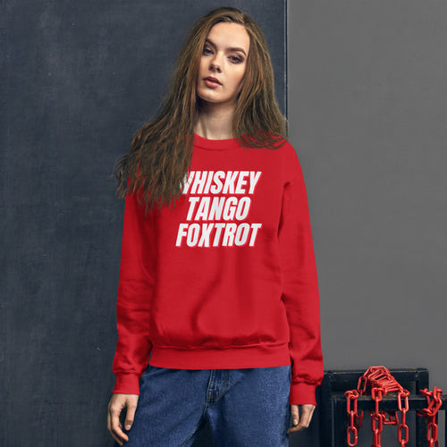 Whiskey Tango Foxtrot: WTF Sweater Red