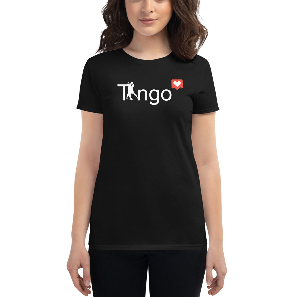 Tango Love Heart Emoji Black T-Shirt