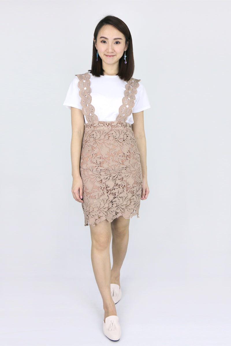 Rosabel Lace Pinafore Dress